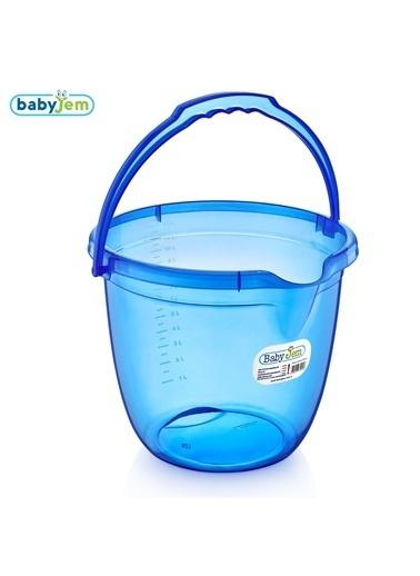 Baby Jem Babyjem Bebek Banyo Kovası Şeffaf  Mavi